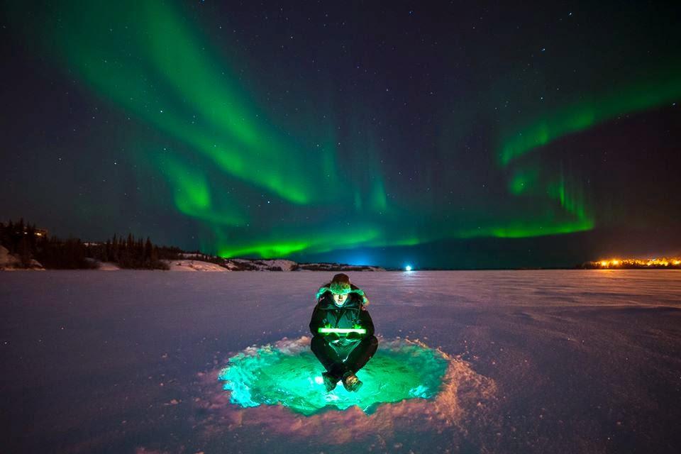 Kuzey ışıklarının görünümü.